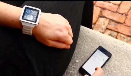 ANDROID smartwatch on wrist