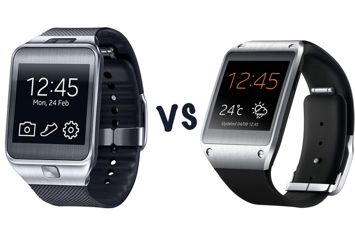 Samsung galaxy gear 2 left vs samsung gear right