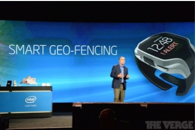 intel smartwatch on stage