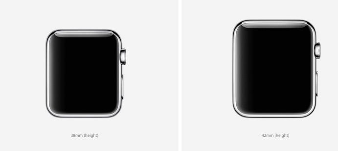 apple watch 2 case sizes