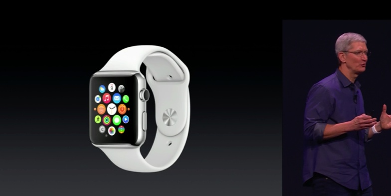 apple watch - tim scott on stage at reveal